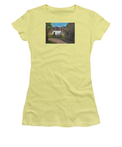 Homestead Women's T-Shirt (Junior Cut) by Sheri Keith