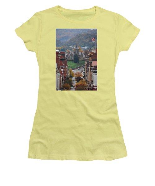 Women's T-Shirt (Junior Cut) featuring the photograph My Hometown Cumberland, Maryland by Eric Liller