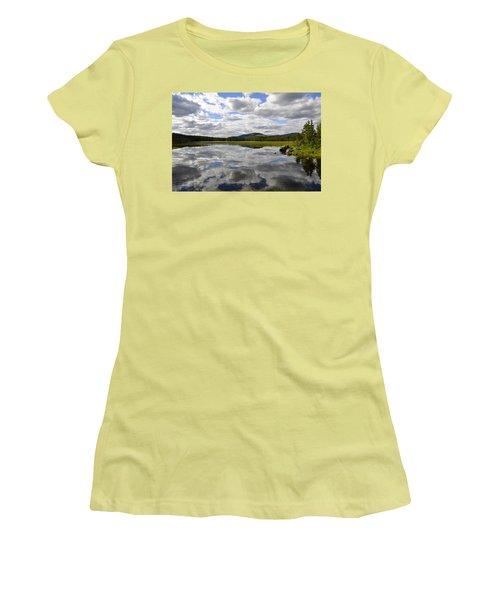 Hon Lake Women's T-Shirt (Junior Cut) by Thomas M Pikolin