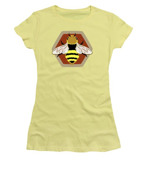 Honey Bee Graphic Women's T-Shirt (Junior Cut) by MM Anderson