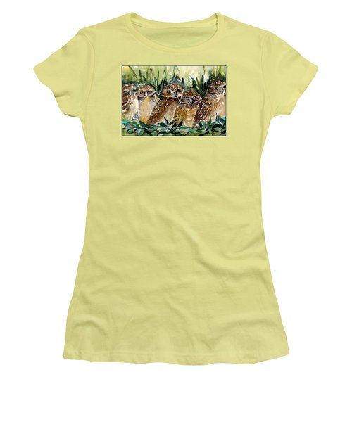 Hoo Is Looking At Me? Women's T-Shirt (Junior Cut) by Mindy Newman