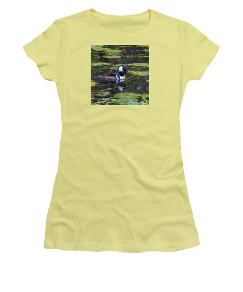 Hooded Merganser Women's T-Shirt (Athletic Fit)