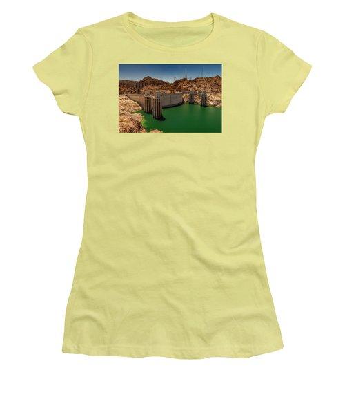 Hoover Dam Women's T-Shirt (Junior Cut) by Ed Clark