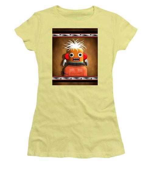 Hopi Indian Kachina Women's T-Shirt (Junior Cut) by John Wills