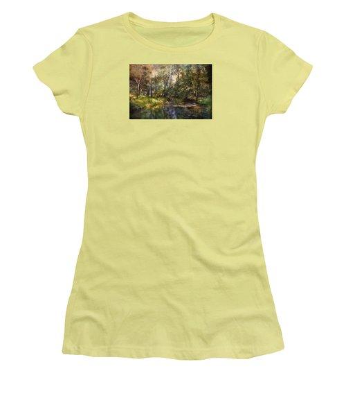 Hopkins Pond, Haddonfield, N.j. Women's T-Shirt (Junior Cut) by John Rivera