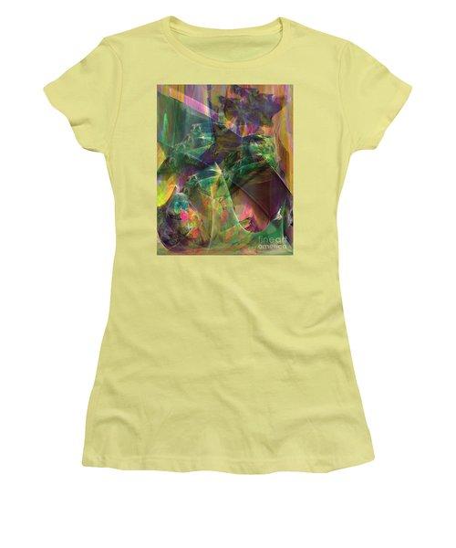 Horse Feathers Women's T-Shirt (Junior Cut) by John Robert Beck