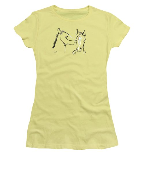 Horse-foals-together 6 Women's T-Shirt (Athletic Fit)