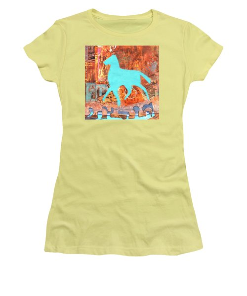 Horse Remix Women's T-Shirt (Junior Cut) by Patricia Cleasby