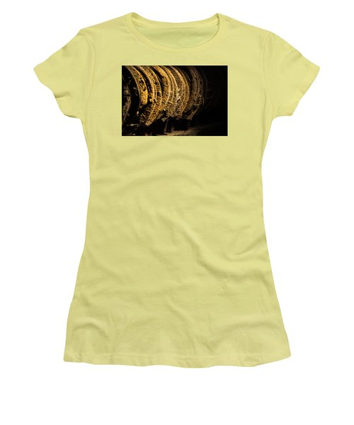 Women's T-Shirt (Junior Cut) featuring the photograph Horseshoes by Jay Stockhaus