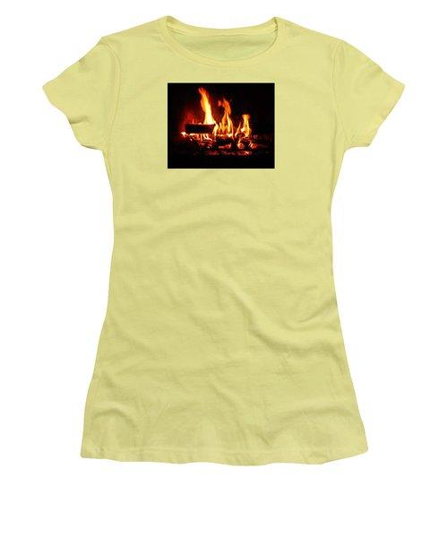 Hot Coals Women's T-Shirt (Junior Cut) by Steve Godleski