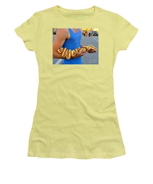 Hot Dog Man Women's T-Shirt (Athletic Fit)