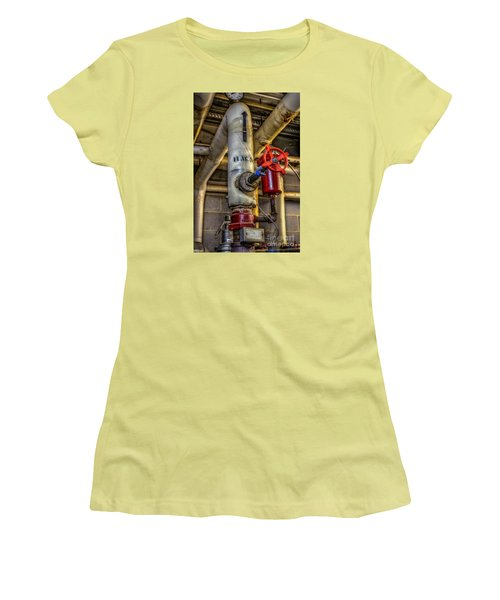 Hot Water Supply Women's T-Shirt (Junior Cut) by Dan Stone