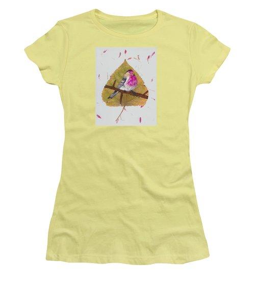 House Finch Women's T-Shirt (Junior Cut) by Ralph Root