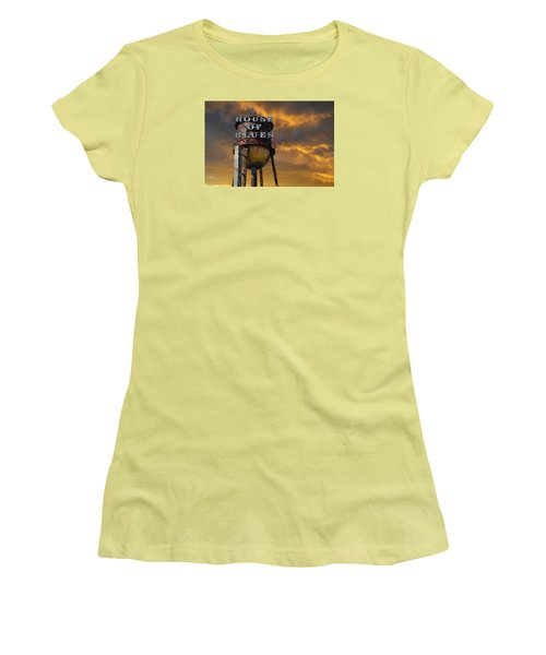 Women's T-Shirt (Junior Cut) featuring the photograph House Of Blues  by Laura Fasulo