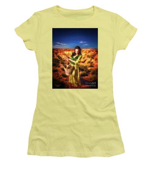 How Come The Men Get Shoes  ... Women's T-Shirt (Junior Cut) by Chuck Caramella