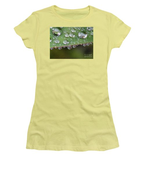 How Many Raindrops Can A Leaf Holds. Women's T-Shirt (Junior Cut) by Kim Tran