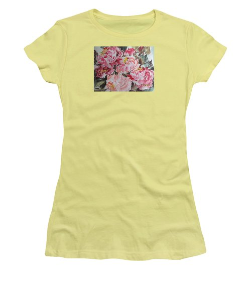 Women's T-Shirt (Junior Cut) featuring the painting Hp11192015-0755 by Dongling Sun