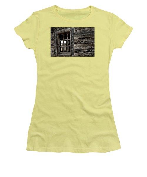Women's T-Shirt (Junior Cut) featuring the photograph Hudson Bay Fort Window by Brad Allen Fine Art