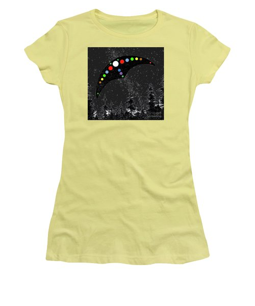 Women's T-Shirt (Junior Cut) featuring the painting Hudson Valley Ufo by James Williamson