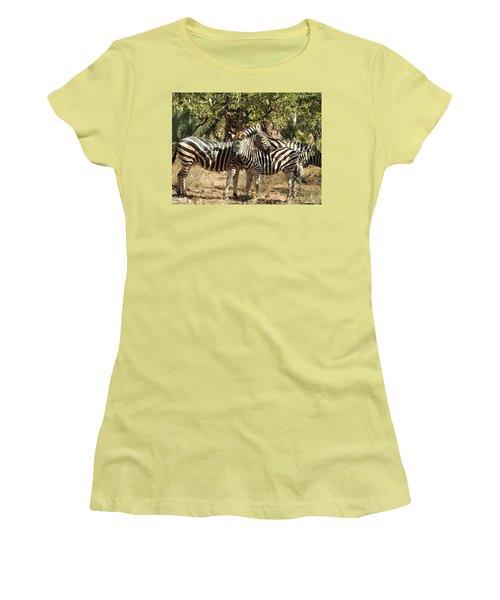 Women's T-Shirt (Junior Cut) featuring the photograph Hug Time by Betty-Anne McDonald