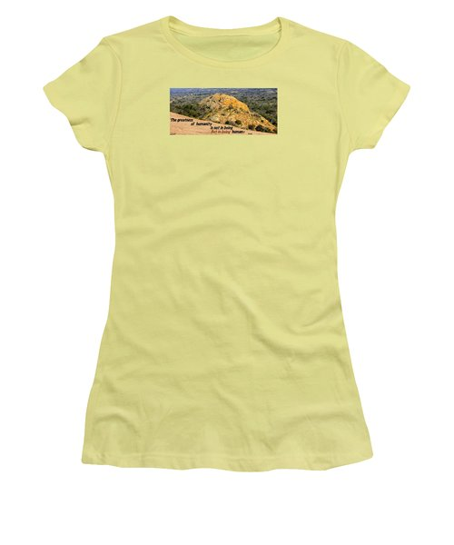 Women's T-Shirt (Junior Cut) featuring the photograph Humanity Reworked by David Norman