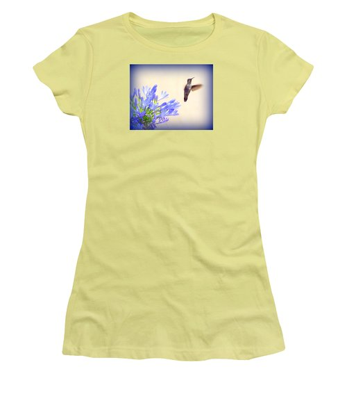 Hummer In Blue Women's T-Shirt (Athletic Fit)