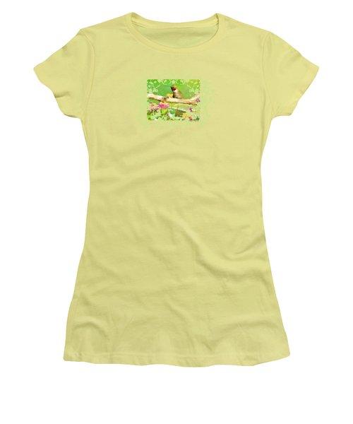 Hummingbird Attitude T - Shirt Designe Women's T-Shirt (Junior Cut) by Debbie Portwood