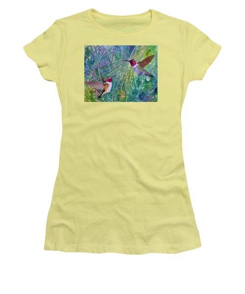 Hummingbird Pair Women's T-Shirt (Athletic Fit)