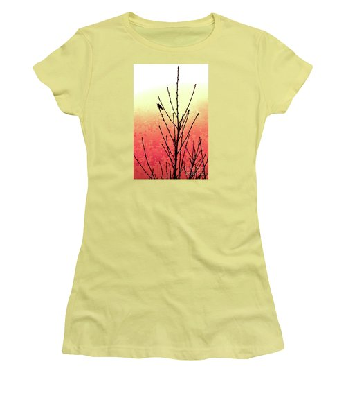 Hummingbird Peach Tree Women's T-Shirt (Athletic Fit)