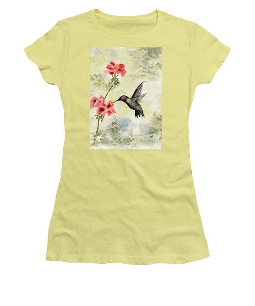 Hummingbird Women's T-Shirt (Junior Cut) by Sam Sidders