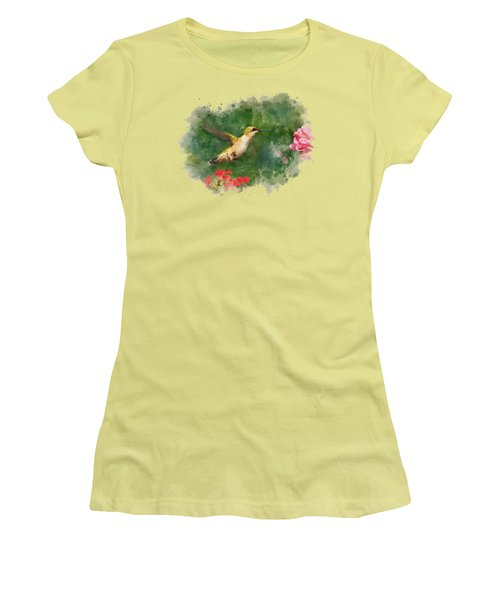 Hummingbird - Watercolor Art Women's T-Shirt (Athletic Fit)
