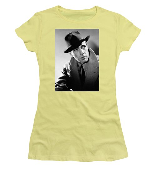 Humphrey Bogart Women's T-Shirt (Junior Cut) by Mountain Dreams