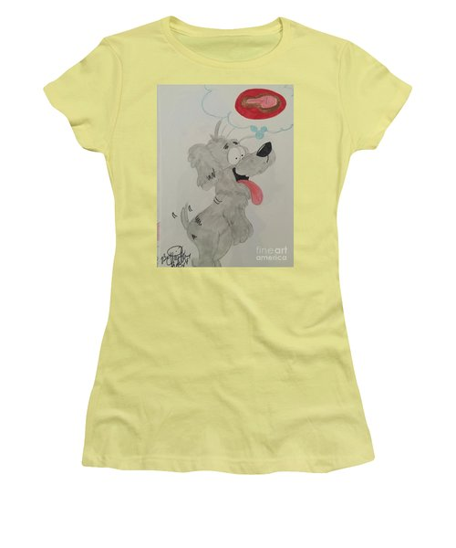 Hungry Dog Women's T-Shirt (Athletic Fit)
