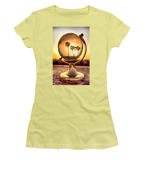 Huntington Beach Globe Women's T-Shirt (Athletic Fit)
