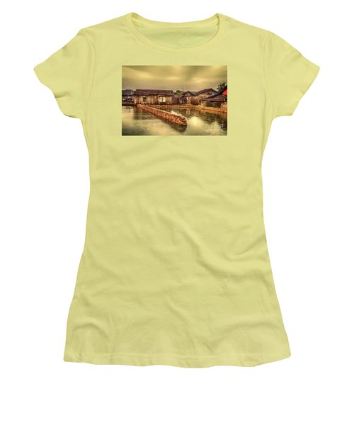 Women's T-Shirt (Junior Cut) featuring the photograph Huts 2 by Charuhas Images