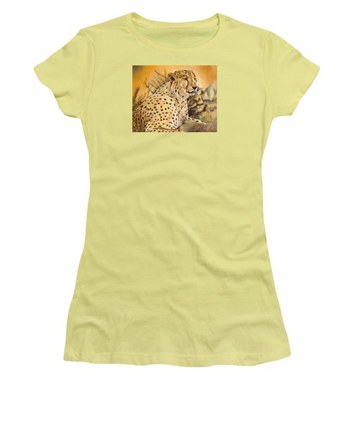 I Am Cheetah Women's T-Shirt (Junior Cut) by Marilyn  McNish
