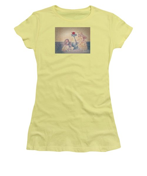 Women's T-Shirt (Junior Cut) featuring the photograph I Am Sorry  ... by Chuck Caramella