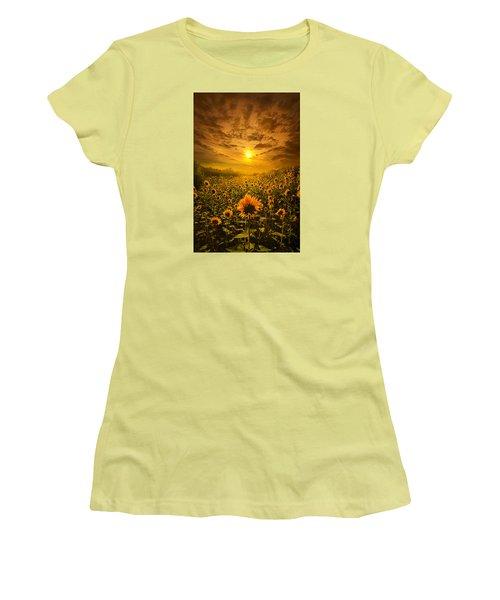 I Believe In New Beginnings Women's T-Shirt (Junior Cut) by Phil Koch