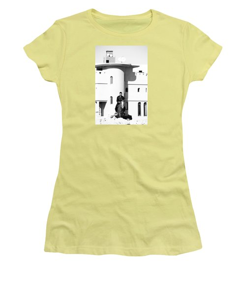 Women's T-Shirt (Junior Cut) featuring the photograph I Gotta Leave This Town by Jez C Self