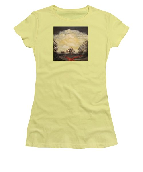 Women's T-Shirt (Junior Cut) featuring the painting I Had A Dream by John Stuart Webbstock