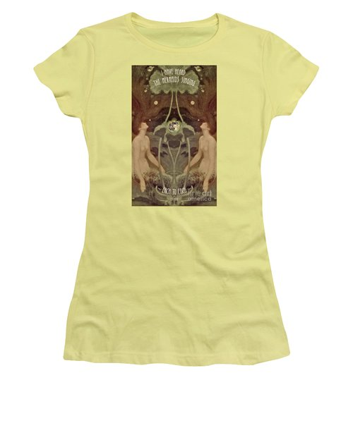 Women's T-Shirt (Junior Cut) featuring the painting I Have Heard The Mermaids Singing by Lora Serra