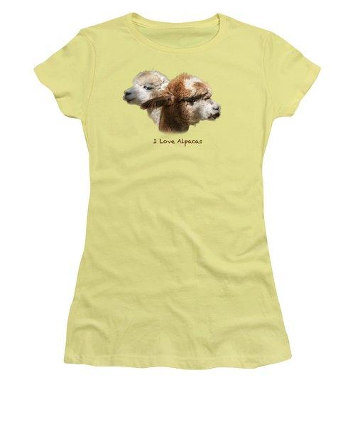 I Love Alpacas Women's T-Shirt (Athletic Fit)