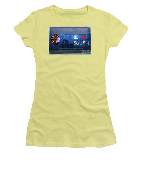 Women's T-Shirt (Junior Cut) featuring the photograph I Love Squan  by Colleen Kammerer