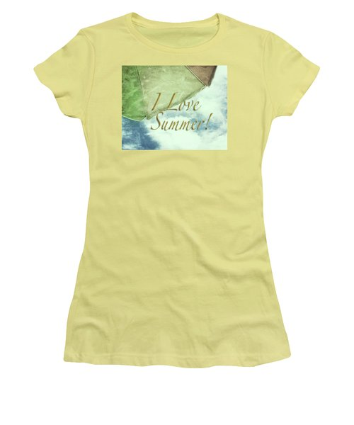 I Love Summer I Women's T-Shirt (Junior Cut) by Marianne Campolongo