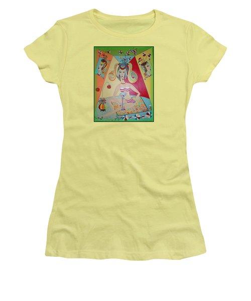 I Love This Cherry Women's T-Shirt (Junior Cut) by Marie Schwarzer