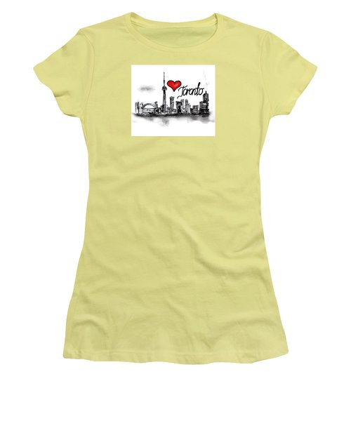 I Love Toronto Women's T-Shirt (Junior Cut) by Sladjana Lazarevic