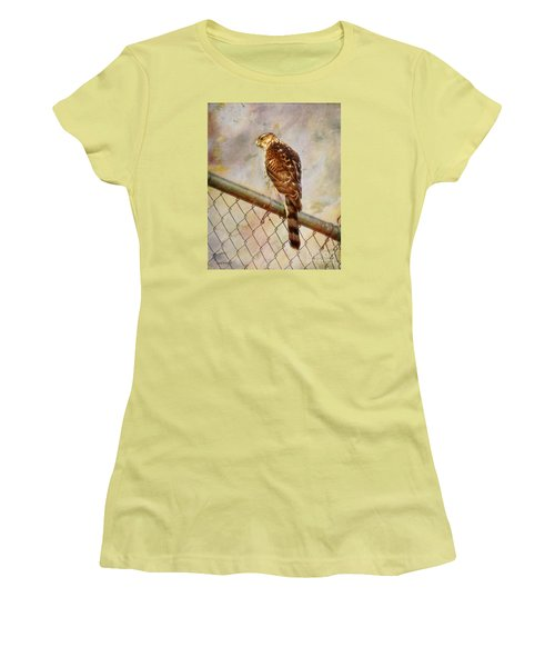 Women's T-Shirt (Junior Cut) featuring the photograph I See You by Rhonda Strickland