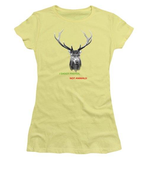 Women's T-Shirt (Junior Cut) featuring the photograph I Shoot Photos by Jivko Nakev