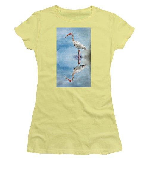 Ibis Women's T-Shirt (Junior Cut) by Cyndy Doty