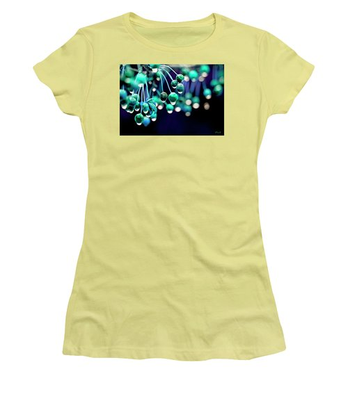 Ice Blue Crab Apples  Women's T-Shirt (Athletic Fit)